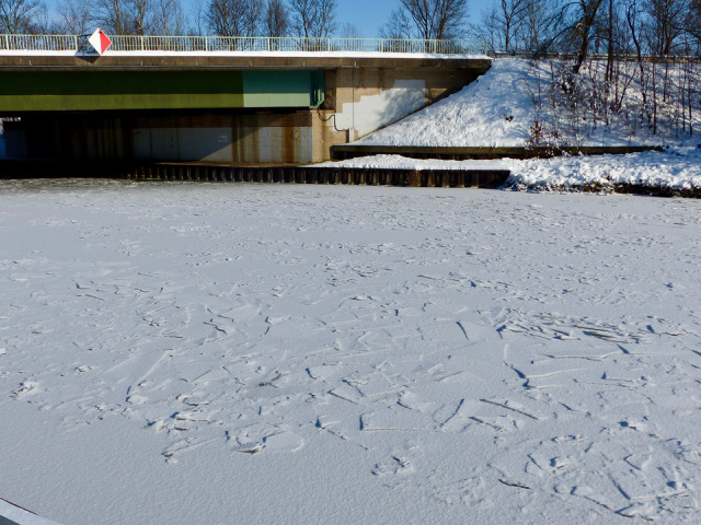Kanal im Winter 2021